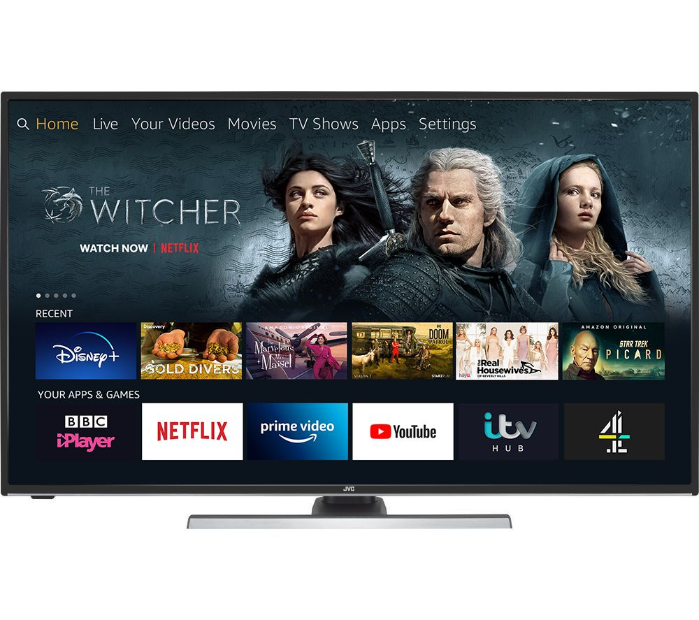 "JVC LT-40CF890 Fire TV Edition 40"" Smart 4K Ultra HD HDR LED TV with Amazon Alexa"