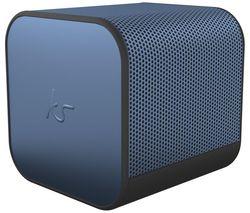 KITSOUND BoomCube Portable Bluetooth Speaker - Metallic Blue