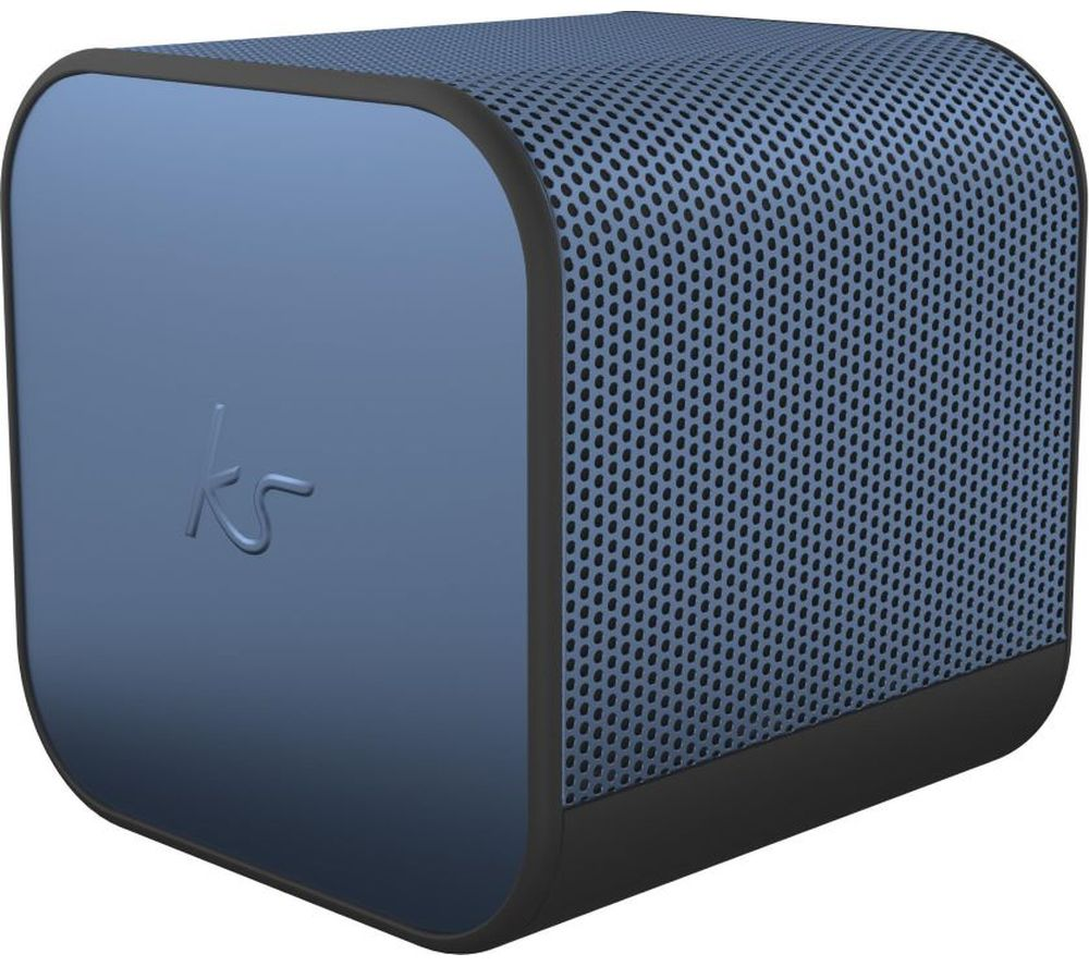 KITSOUND BoomCube Portable Bluetooth Speaker - Metallic Blue