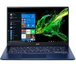£999, ACER Swift 5 SF514-54T 14inch Intel® Core™ i5 Laptop - 256 GB SSD, Blue, Achieve: Fast computing with the latest tech, Windows 10, Intel® Core™ i5-1035G1 Processor, RAM: 8GB / Storage: 256GB SSD, Full HD touchscreen,