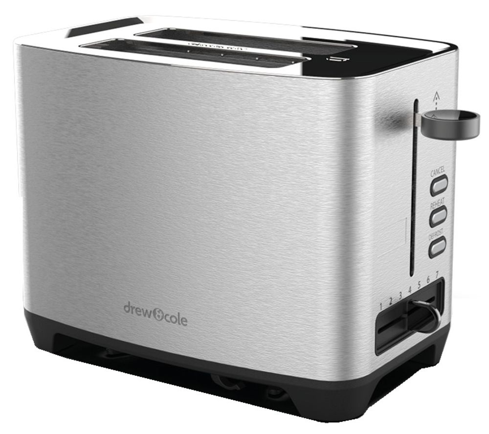 DREW & COLE 2-Slice Toaster - Chrome