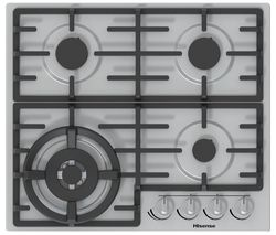 HISENSE GM663XUK Gas Hob - Stainless Steel