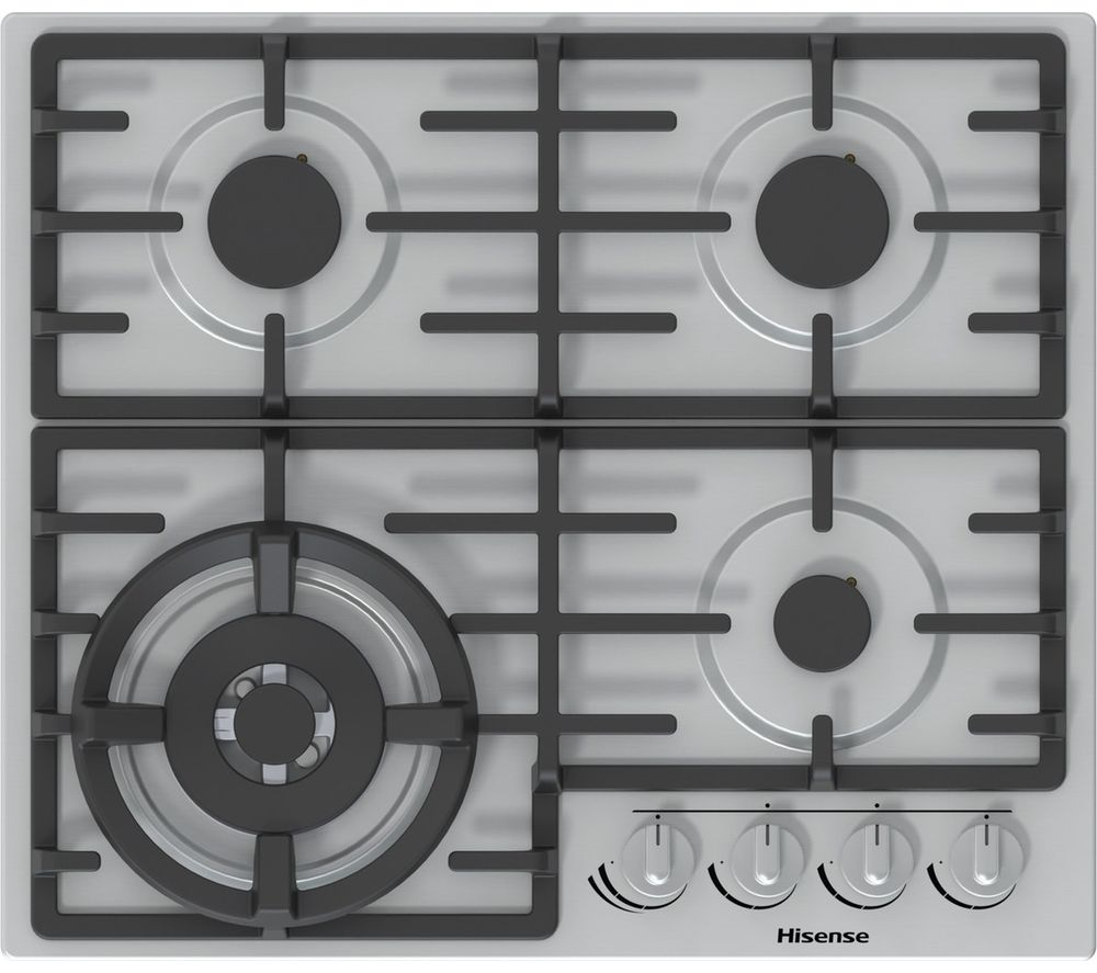 GM663XUK Gas Hob - Stainless Steel, Stainless Steel