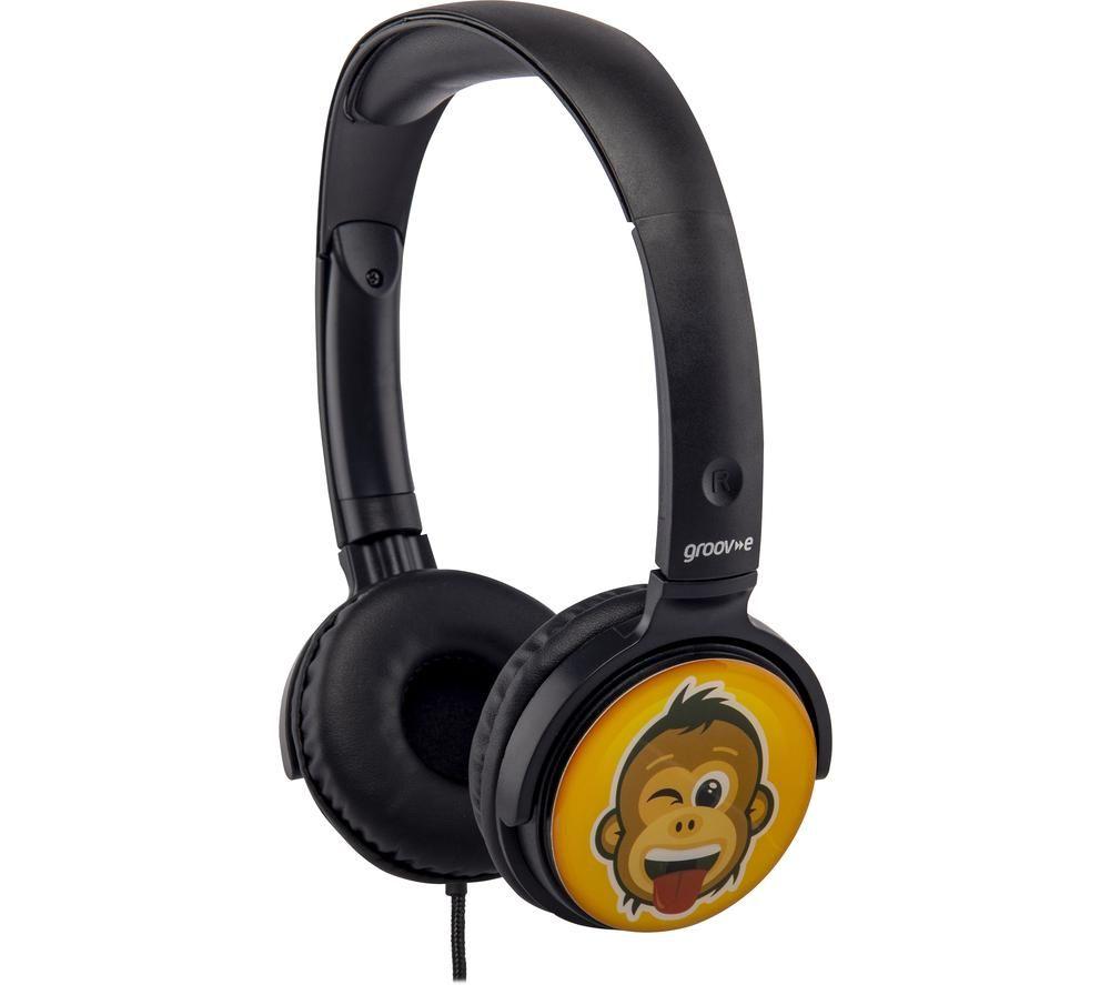 GROOV-E GV-EMJ19 EarMOJI's Kids Headphones - Monkey