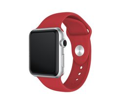 Apple Watch 42 / 44 mm Silicone Strap - Red, Small