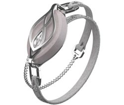 Leaf Crystal Fitness Tracker with Crystal Bracelet - Swarovski Silver
