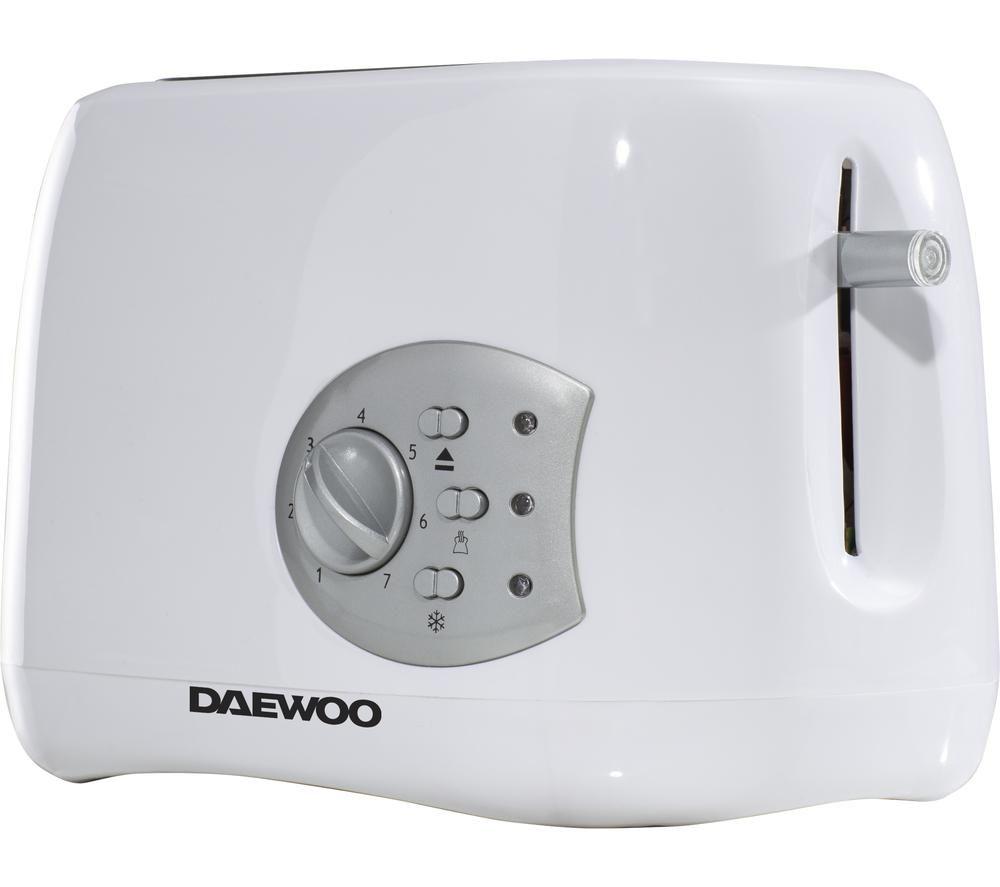 DAEWOO Balmoral SDA1711 2-Slice Toaster - White, White