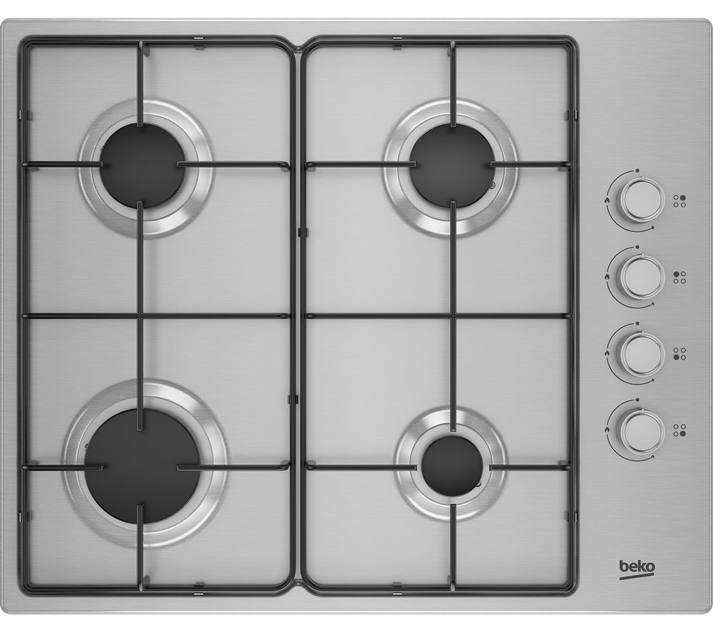 Image of BEKO HIBG64120SX Gas Hob - Stainless Steel, Stainless Steel