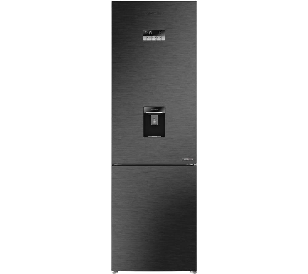GRUNDIG GKNM46220DZ 70/30 Fridge Freezer - Dark Steel