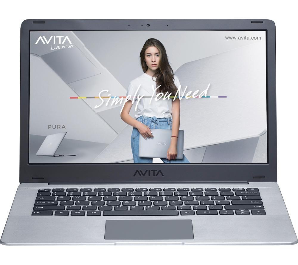 AVITA Pura 14 Laptop - AMD Ryzen 5, 256 GB SSD, Silver, Silver