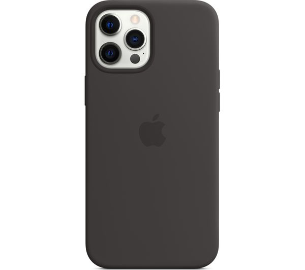 Image of APPLE iPhone 12 Pro Max Silicone Case with MagSafe - Black