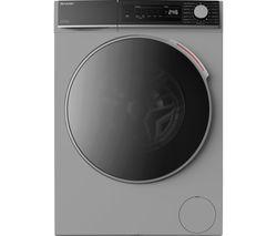 ES-NDB8144SD-EN 8 kg Washer Dryer - Silver
