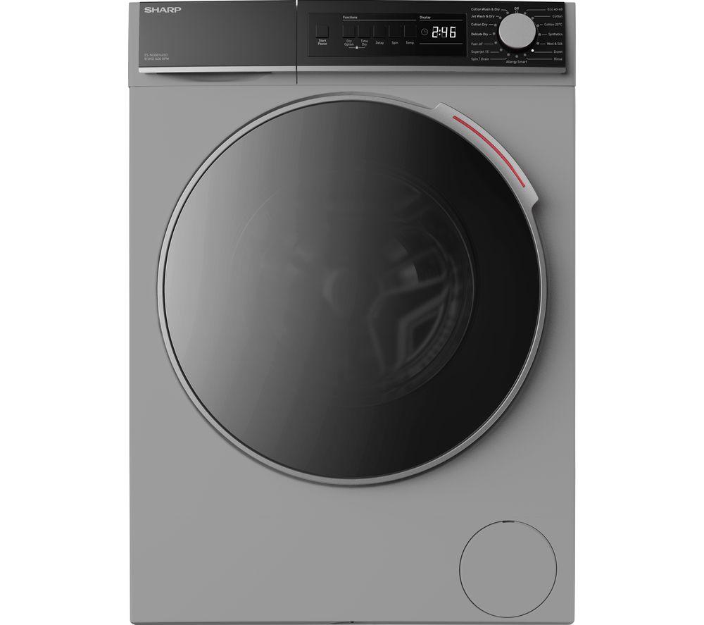 SHARP ES-NDB8144SD-EN 8 kg Washer Dryer - Silver