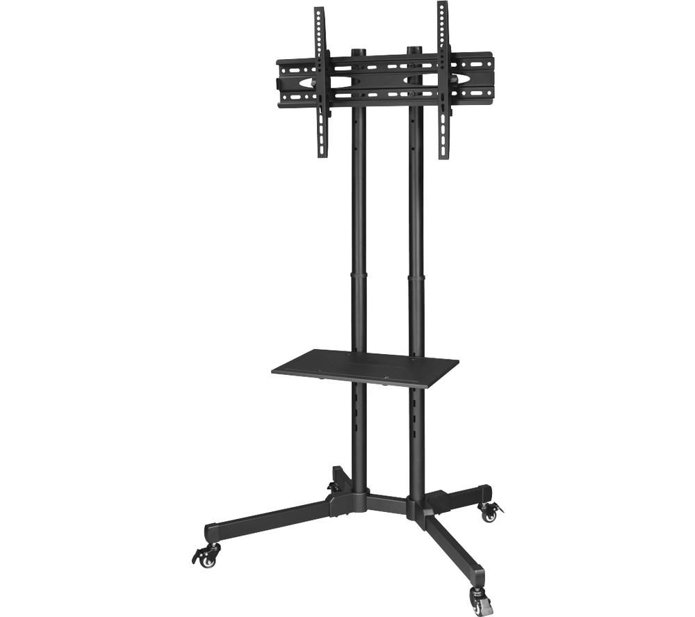 HAMA Trolley Portable TV Stand with Bracket - Black