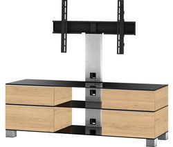 ESSENTIALS Mood MD 8240 1400 mm TV Stand with Bracket – Black & Oak