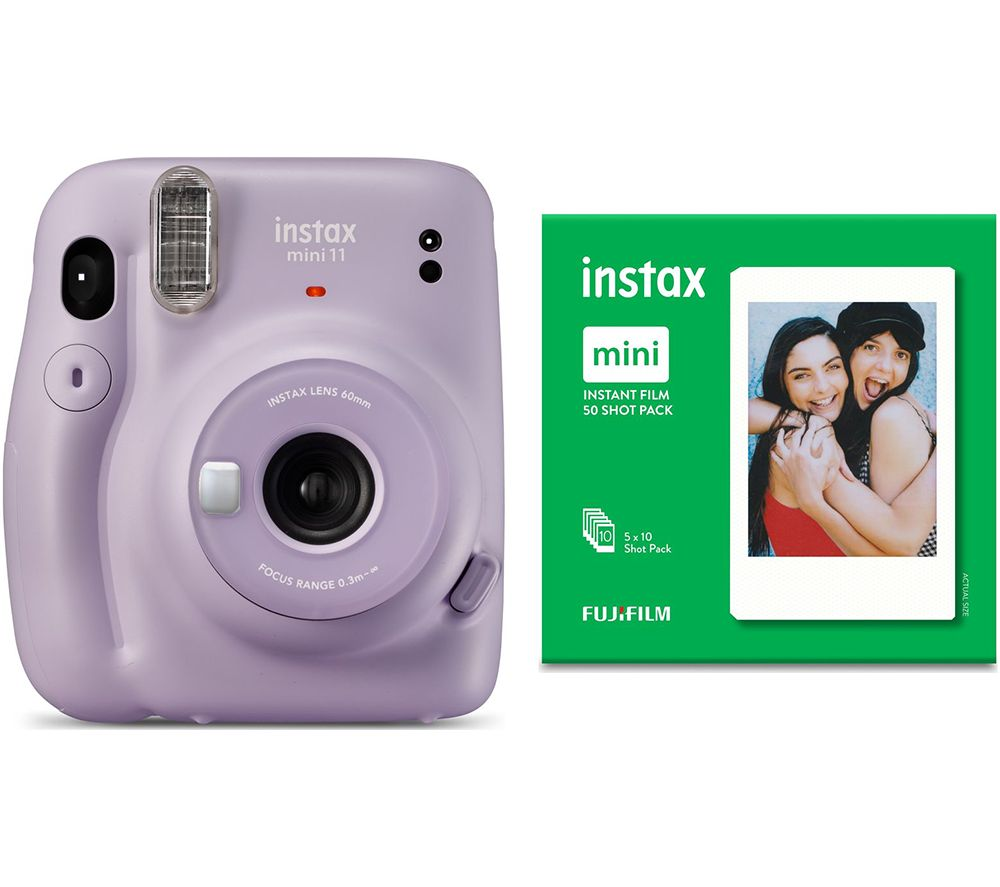 Click to view product details and reviews for Instax Mini 11 Instant Camera 50 Shot Mini Film Pack Bundle Lilac Purple Purple.