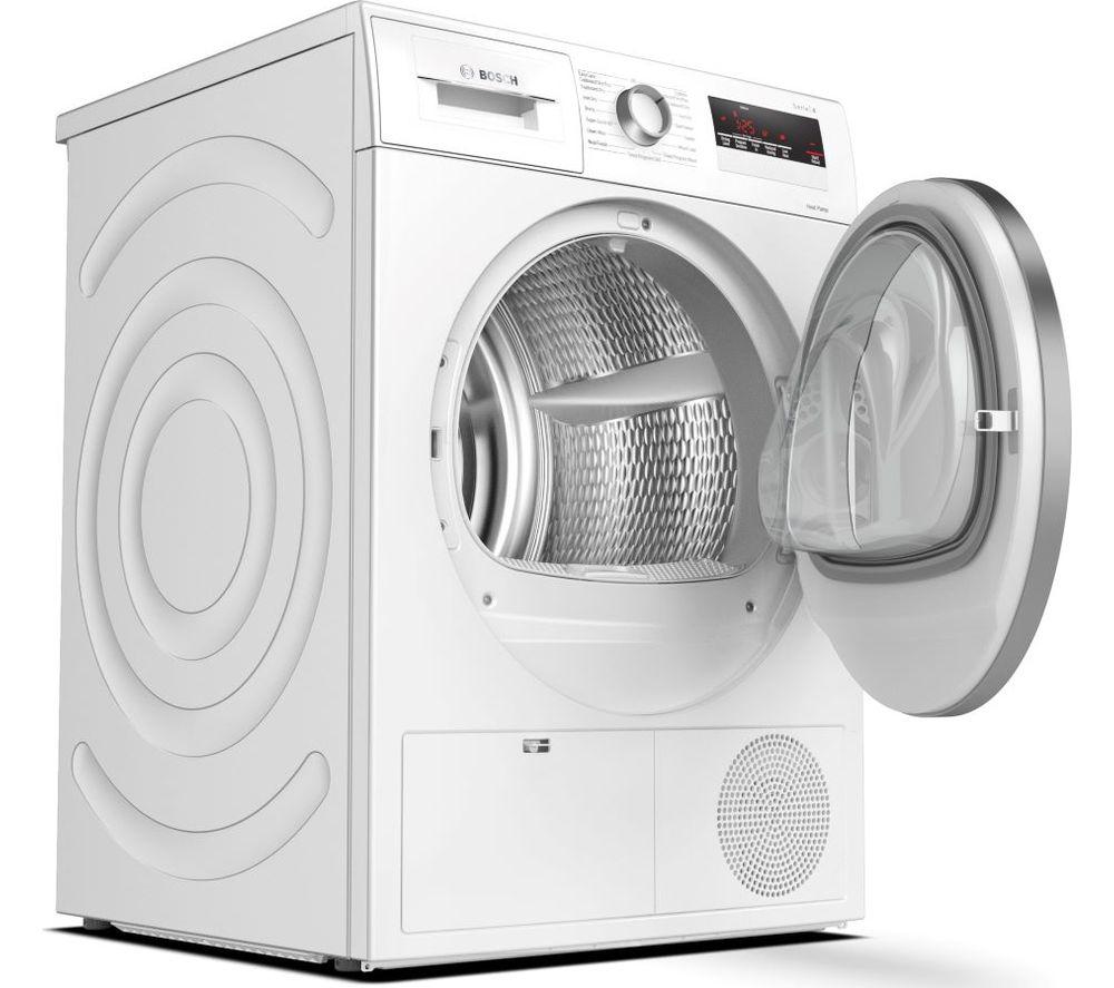 BOSCH Serie 4 WTH85222GB 8 kg Heat Pump Tumble Dryer - White, White