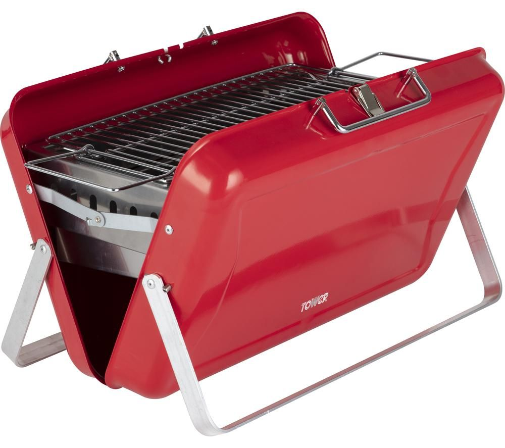 TOWER T978516RED Portable Charcoal Grill BBQ - Red