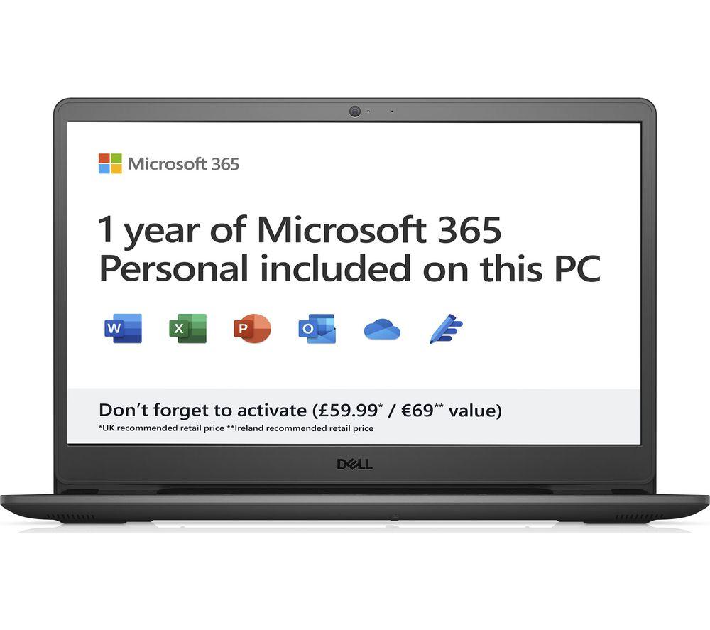 "DELL Inspiron 15 3502 15.6"" Laptop - Intel® Pentium®, 128 GB SSD, Black"
