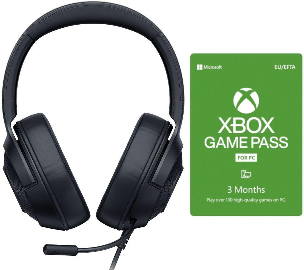 RAZER Kraken X Lite 7.1 Gaming Headset & 3 Month Xbox Game Pass for PC Bundle