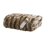 DREAMLAND 16084 Relaxwell Faux Fur Heated Throw - Large