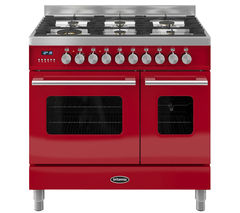 BRITANNIA Delphi 90 RC9TGDERED Duel Fuel Range Cooker - Red