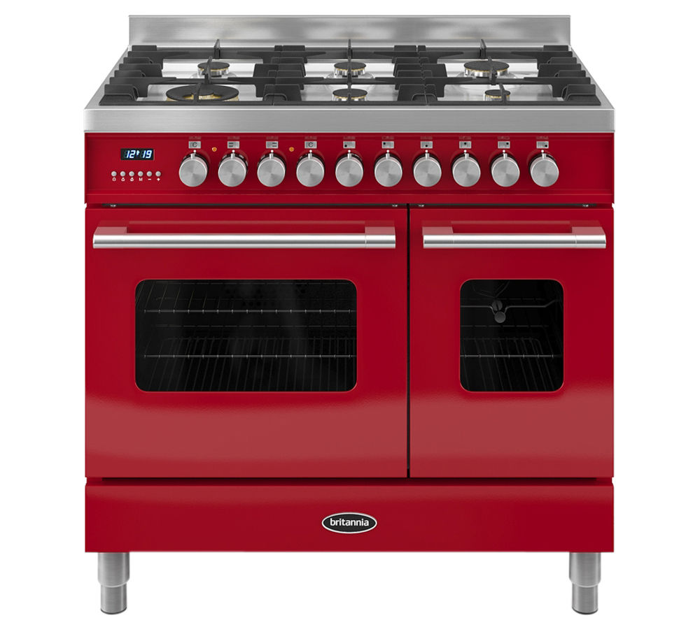 BRITANNIA Delphi 90 RC9TGDERED Duel Fuel Range Cooker - Red