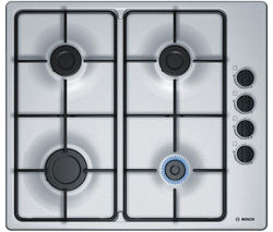 BOSCH Serie 2 PBP6B5B80 Gas Hob - Stainless Steel