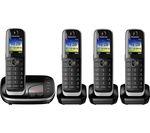 PANASONIC KX-TGJ324EB Cordless Phone with Answering Machine - Quad Handsets