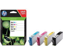 HP 364 Cyan, Magenta, Yellow & Black Ink Cartridges - Multipack