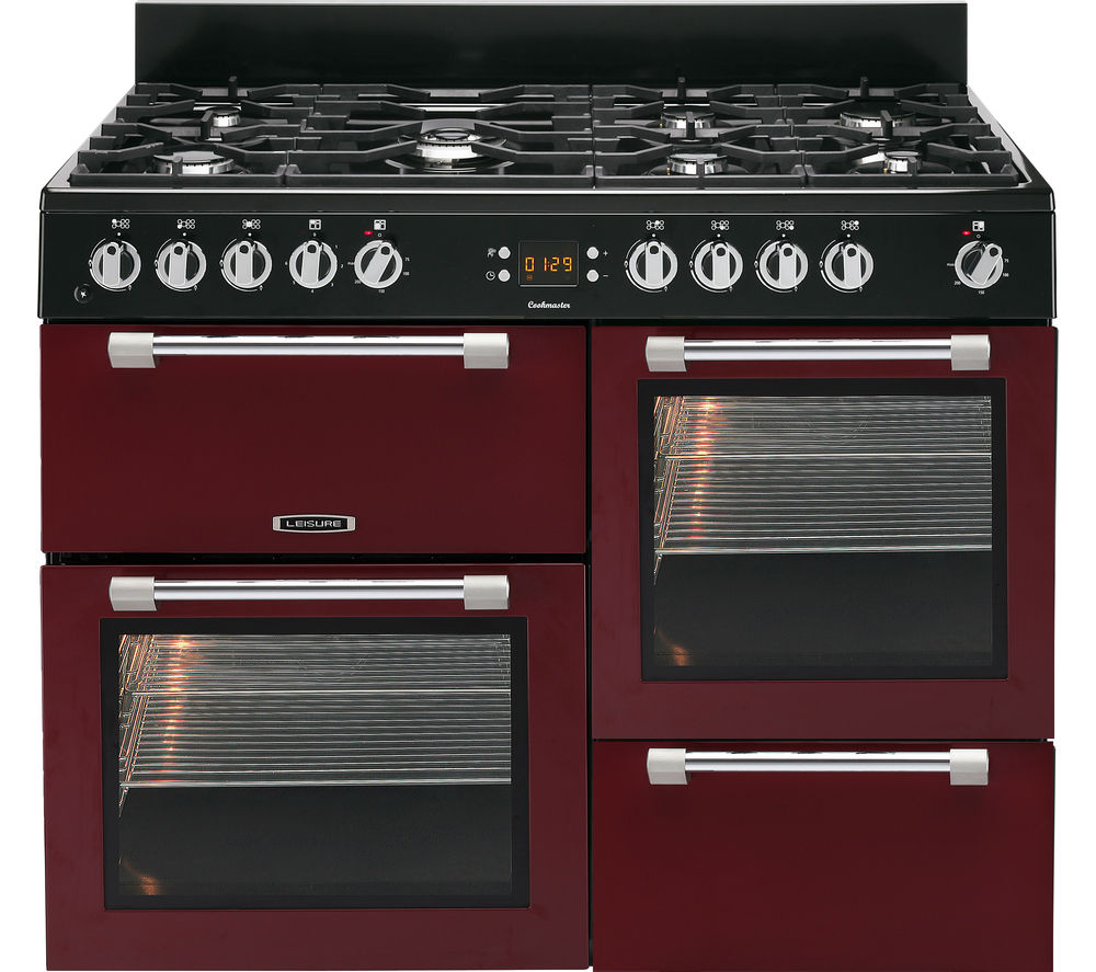 LEISURE Cookmaster CK110F232R Dual Fuel Range Cooker - Red & Chrome