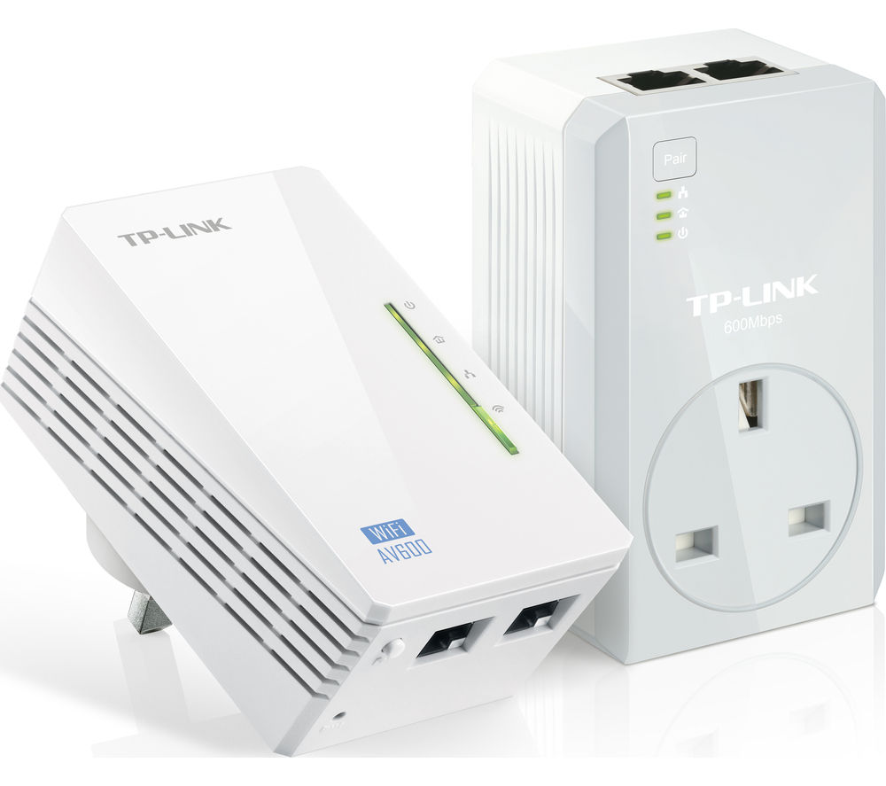 TP-LINK TL-WPA4226 Wireless Powerline Adapter Kit - AV600, Twin Pack