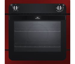 NEW WORLD NW601F Electric Oven - Black & Metallic Red