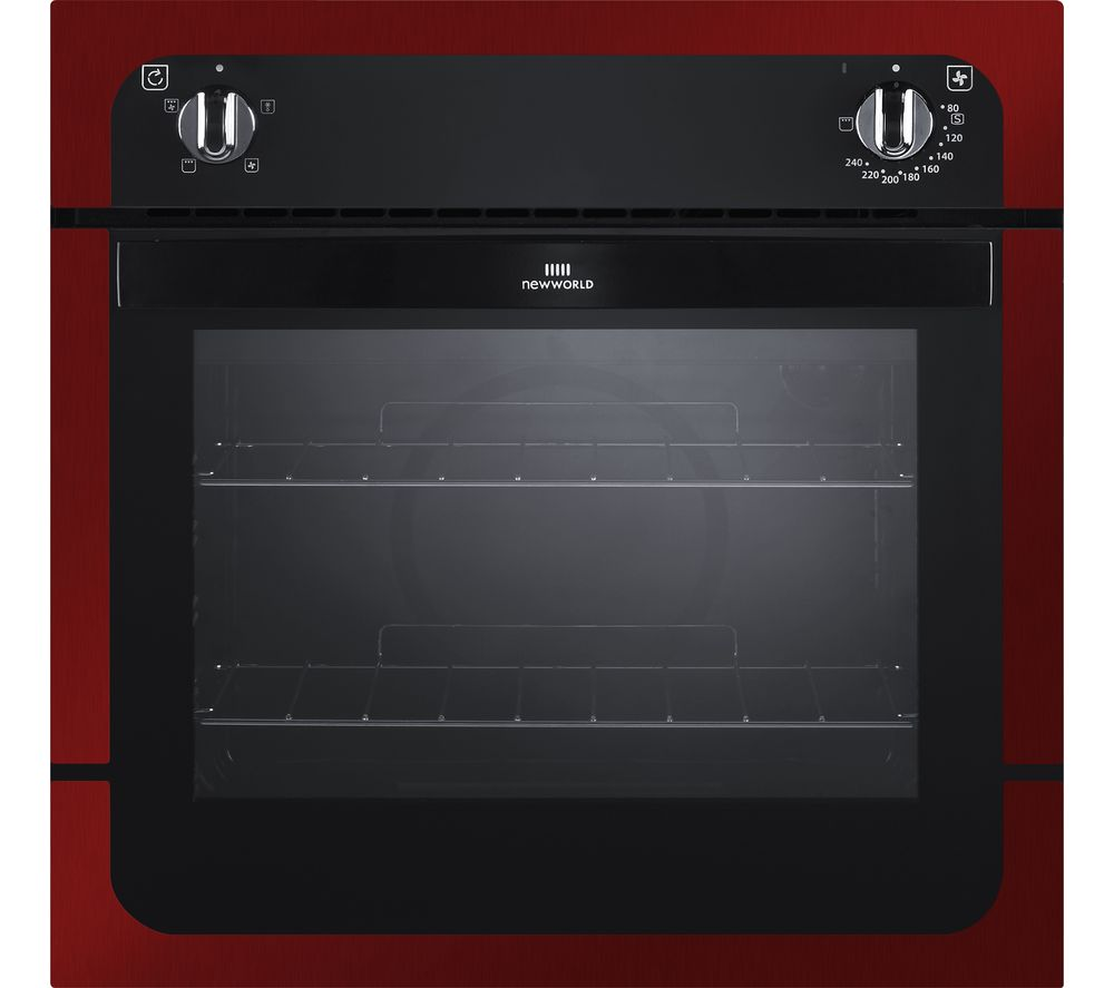 New World Nw601f Electric Oven Black Metallic Red