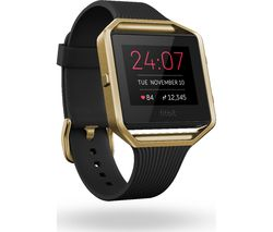FITBIT Blaze Accessory Band - Slim Black & Gold, Small