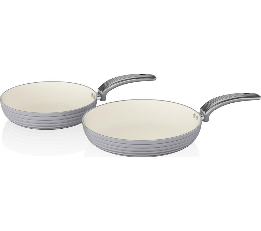 SWAN SWPS2010PN 2-piece Non-stick Frying Pan Set - Grey
