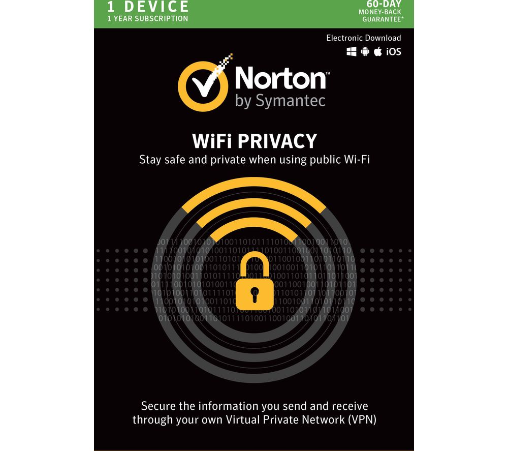 Compare retail prices of Norton Wi-Fi Privacy 1 User for 1 Year to get the best deal online