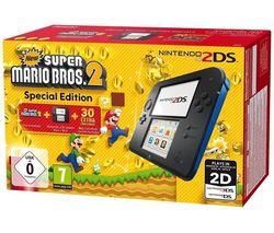 NINTENDO 2DS & Super Mario Bros. 2 - Blue & Black
