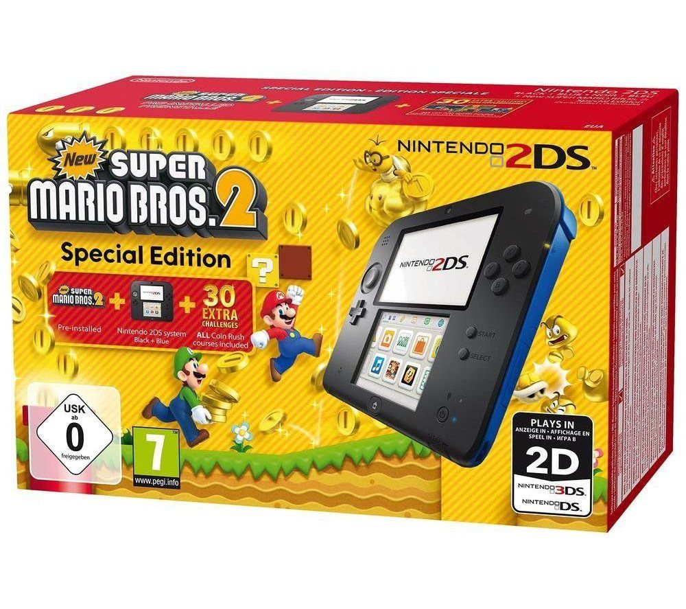 NINTENDO 2DS & Super Mario Bros. 2 - Blue & Black