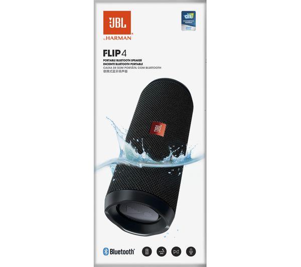 buy jbl flip 4 portable bluetooth wireless speaker black. Black Bedroom Furniture Sets. Home Design Ideas