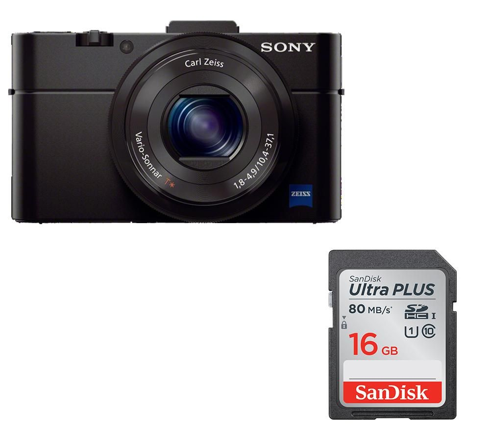 Compare prices for Sony Cyber-shot DSC-RX100 II High Performance Compact Camera and Memory Card Bundle