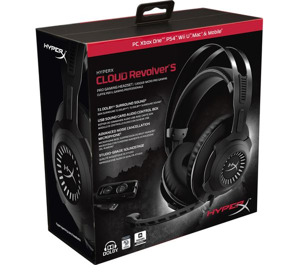 dfcd4f60e27 Buy HYPERX Cloud Revolver S Gaming Headset - Black | Free Delivery ...
