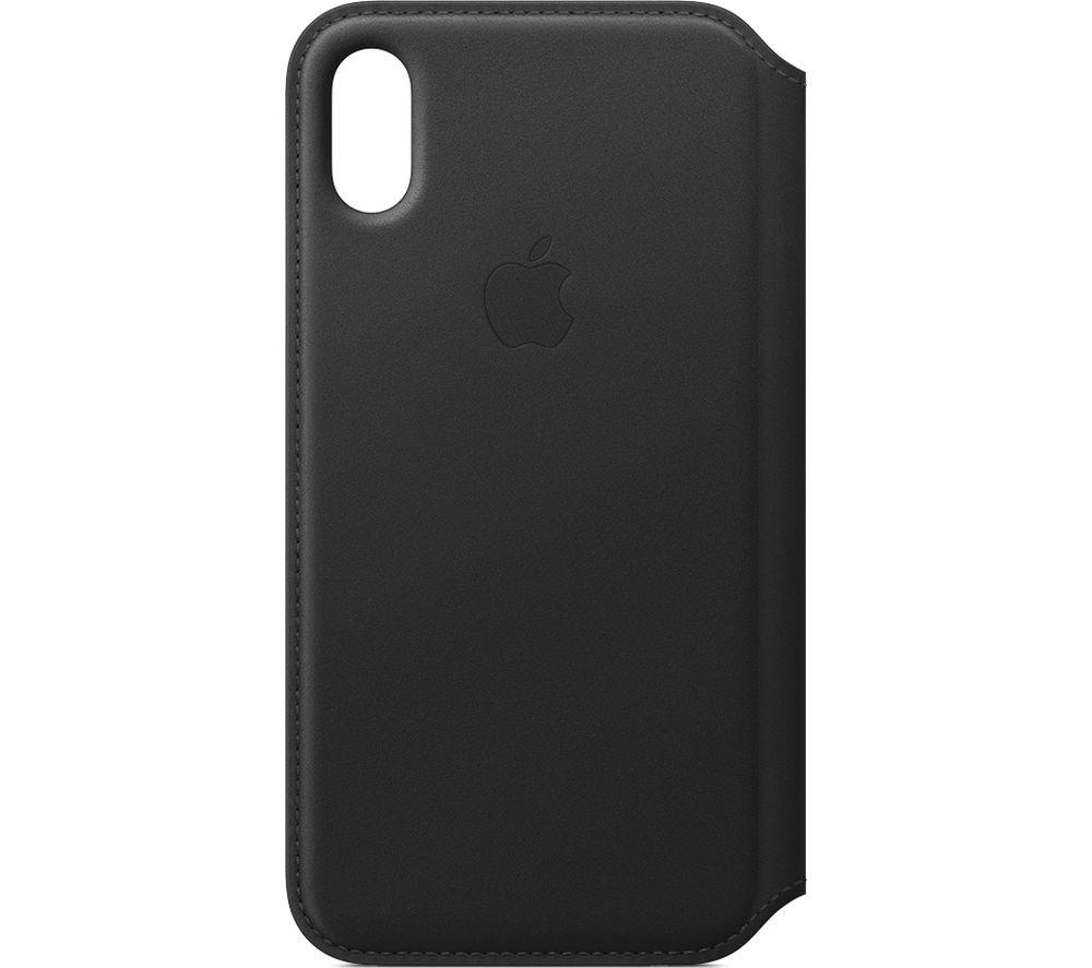 APPLE iPhone X Leather Case - Black