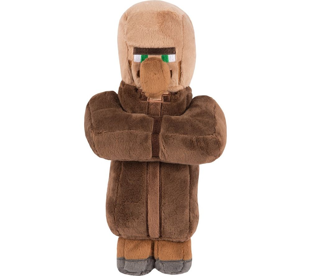 """MINECRAFT Villager Plush Toy with Hang Tag - 12"""", Brown"""