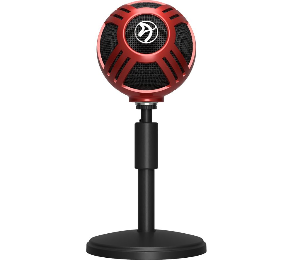 buy arozzi sfera usb microphone red free delivery currys. Black Bedroom Furniture Sets. Home Design Ideas