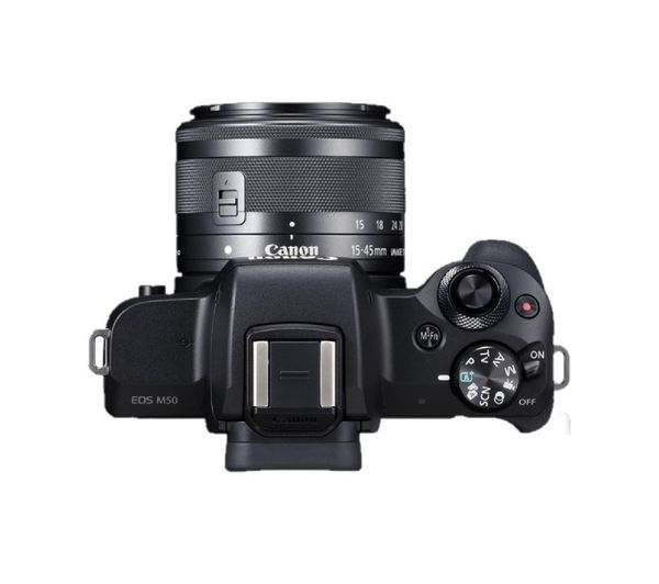 buy canon eos m50 mirrorless camera with ef m 15 45 mm f 3 5 5 6 is