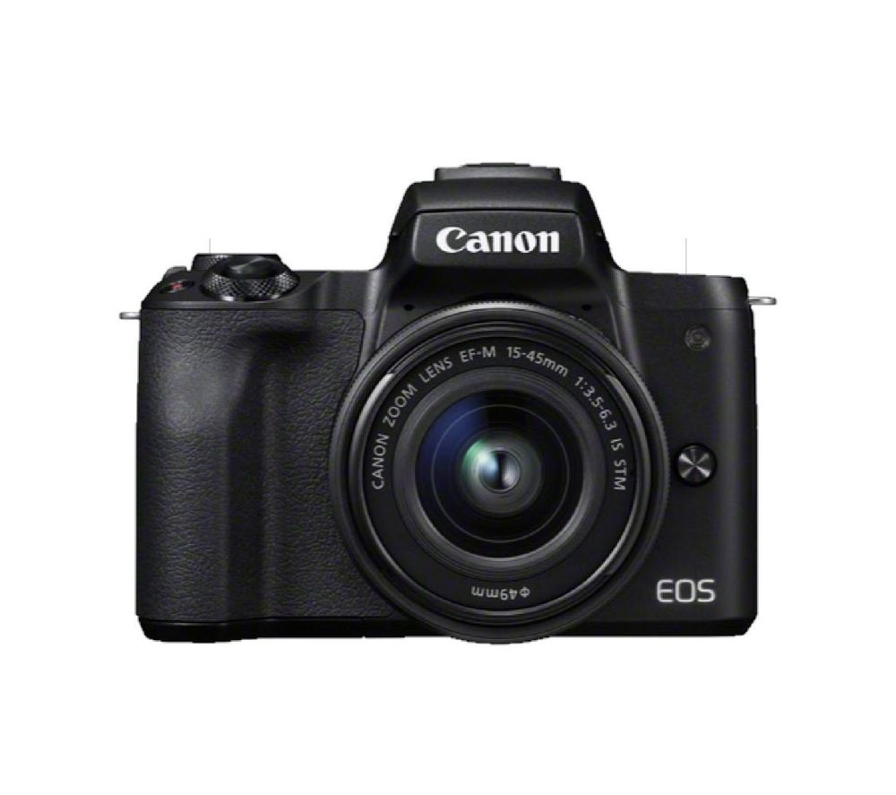 Canon Eos M50 Mirrorless Camera With Ef M 15 45 Mm F 35 56 Is Stm Lens
