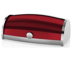 SWAN Townhouse Roll Top Bread Bin - Red