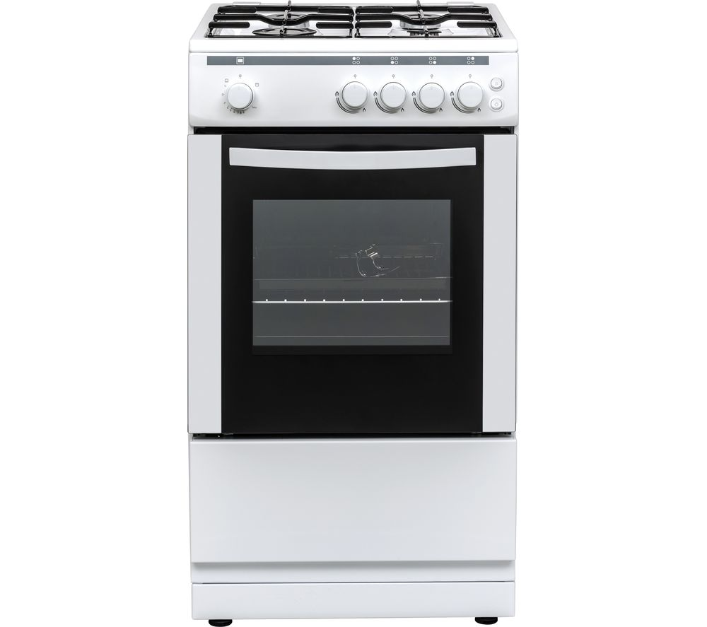 ESSENTIALS CFSGWH18 50 cm Gas Cooker - White