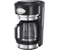 RUSSELL HOBBS Retro Glass Filter Coffee Machine - Black